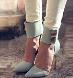 Elegant Beautiful Women Wearing Pointed-toe Heels