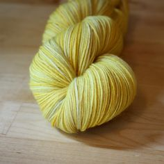 Hand Dyed Yarn / Pale Golden Yellow