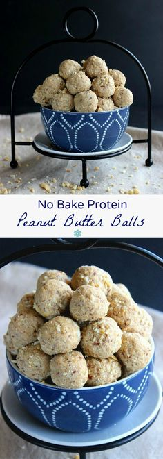 No Bake Protein Peanut Butter Balls are an easy and healthy treat that you can pop in your mouth any time of the day. Energy packed with only 5 ingredients!