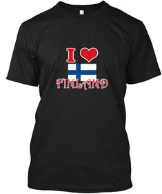 I Love Finland Black T-Shirt Front - This is the perfect gift for someone who loves Finland. Thank you for visiting my page (Related terms: I Heart Finland,Finland,Finnish,Finland Travel,I Love My Country,Finland Flag, Finland Map,Finland L #Finland, #Finlandshirts...)