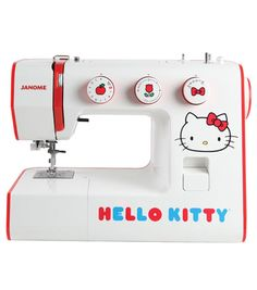 Janome Hello Kitty 15822 Sewing Machine @Katie O'Malley-soot Is this the sewing machine I should get?  Lol.