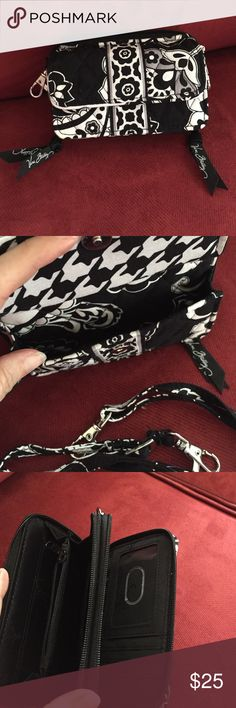 Vera Bradley Wallet NWOT Beautiful Vera Bradley wallet/mini-purse.  Plenty of space.  Front opening can hold my iPhone 6.  Detachable shoulder strap. Vera Bradley Bags Wallets