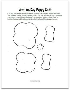 Image result for felt poppy pattern