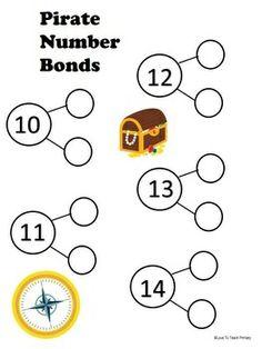 Pirate Theme Basic Math Facts