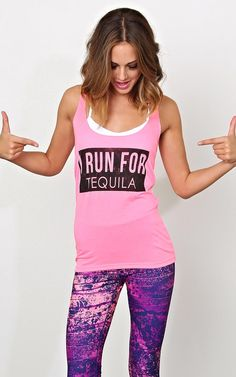 I RUN FOR TEQUILA Knit Tank - New Arrivals