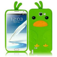 INSTEN For Samsung Galaxy S Note 2 N7100(AT & T) Funny Silicone Skin Cover - Neon Green2