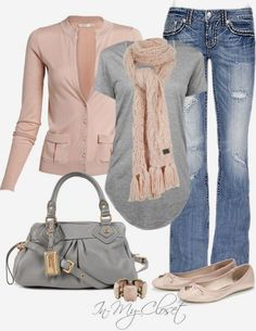 Casual Outfits | Weekend Wear hans cardigan, HELMUT LANG tee, Miss Me jeans, Lipsy Patent shoes, Marc By Marc Jacobs bag, Lipsy Chunky scarf by in-my-closet