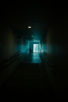 Dark corridor (location unknown; Tumblr photo by eigogameD / hiromitsu)