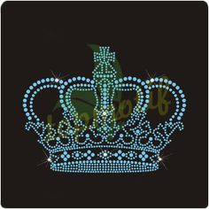Crystal Crown Iron On Motif Bling Bling Rhinestone