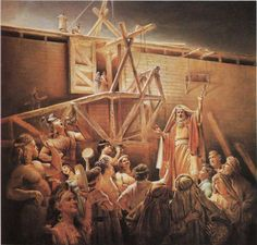 Noah preached for 40 years as his family built the Ark. The people scoffed. It had never rained. Noah became a joke. When Jehovah sealed the door of the Ark shut, and the heavens opened, no-one was laughing.