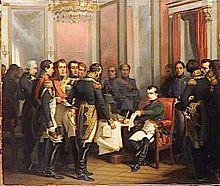 Napoleon abdicates, and Wellington dances the Flamenco, April 1814 (Kathryn Kane via The Regency Redingote) - pictured Treaty of Fontainbleau April 1814 courtesy Wikipedia