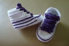 Bota de crochet hechos a mano con perlé de alta calidad. Patucos de primavera/verano/otoño.Elige talla!!!!Tallas: 0-3 meses (9 cm)3-6 meses (10 cm)6