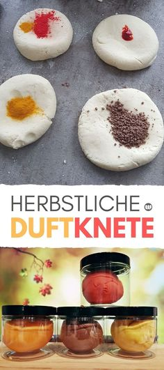 Herbstliche Duftknete selber machen in Naturfarben Rezept und Anleitung Autumnal scented dough itself in natural colors recipe and instructions for homemade scented dough in autumnal natural colors and the scent of oranges, berries, cinnamon and vanilla. Diy For Kids, Crafts For Kids, Children Crafts, Japanese Garden Design, Fall Scents, Autumn Crafts, Natural Make Up, Food Coloring, Smoothie Recipes