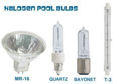 halogen swimming pool bulb chart