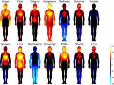 "Mapping Emotions in the Body ""Unraveling the subjective bodily sensations associated with human emotions may help us to better understand mood disorders such as depression and anxiety, which are accompanied by altered emotional processing, autonomic nervous system activity, and somatosensation."" The Nia practice is unique in that it addresses a healthy release of emotions with scientifically-based movements set to dynamic music."