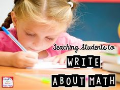 Great suggestions and routines for teaching students to write about their mathematical thinking.