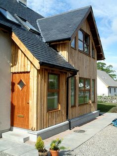 Cromartie Timber specialise in the production of fine sawn cladding, beams and pillars in locally sourced Scottish Larch and Douglas Fir. Douglas Fir, Cladding, Home Projects, Beams, Building A House, Shed, Construction, Outdoor Structures, House Design