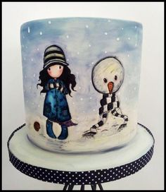 I adore winter themed cake's there is something a little bit magical about them, this is definately my new favorite.