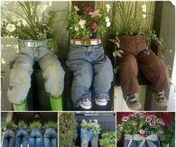 DIY Jean Planters
