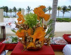 Fabulous food garnishes at the Hacienda Tres Rios.
