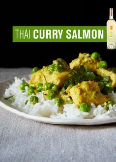 SALMON with aTHAI CURRY SAUCE | Uproot Wines & Food52 | The fruit and acidity of Uproot's 2012 Sauvignon Blanc mingle with and cut through the rich spices and coconut in this lightly spicy curry sauce. #DrinkUproot - http://www.drinkuproot.com/blogs/recipes/18175895-salmon-with-a-thai-curry-sauce
