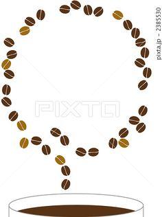 コーヒー フレーム コーヒー豆のイラスト
