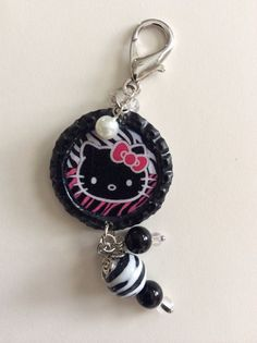 Kawaii Kitty Cat Resin Bottle Cap Charm, Bottle Cap Phone Charm, Bottle Cap Jewelry, Kawaii Bag or Purse Charm on Etsy, $10.00