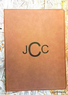 Personalized Leather Portfolio $24.00
