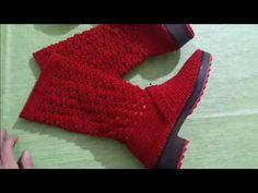 Crochet Sandals, Crochet Boots, Crochet Slippers, Knitting Videos, Crochet Videos, Hand Knitting, Crochet Stitches, Crochet Patterns, Spring Boots