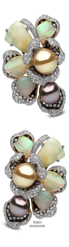 Yoko London Feronia Collection (white gold, diamonds, opals, South Sea and Tahitian pearls) | Purely Inspiration