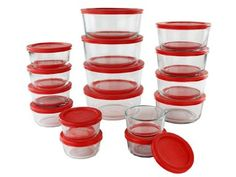 Pyrex 1126080 32 Piece Simply Store Nesting Storage Set Clear *** Click image for more details. (This is an affiliate link) Rooster Kitchen, Storage Sets, Space Saving Storage, Food Storage Containers, Red Poppies, Kitchen Storage, Kitchen Tools, Pyrex, Safe Food