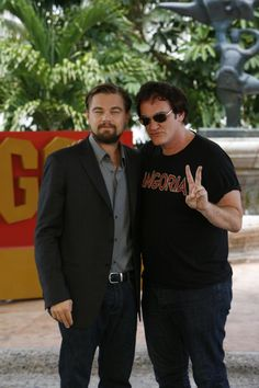 Leonardo DiCaprio and Quentin Tarantino at the Django Unchained event at the Summer of Sony 4 Spring Edition.