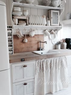 Farmhouse shabby chic kitchen