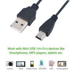 Продвижение 80 см USB 2.0 Мужчина К Mini 5 Pin B кабель для Передачи Данных зарядное устройство Зарядный Кабель Шнура Адаптера 5TLR Мини USB Адаптер для MP3 MP4 плеер
