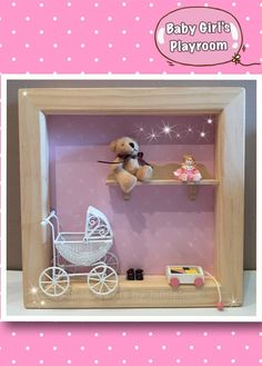 Baby Girls Play Room frame with moving pram☺️ From Mini Moments by Jamielee© Www.fb.com/minimomentsbyjamielee