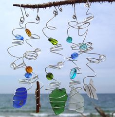 Use up the extra beads and sea glass