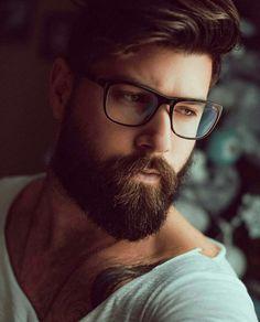His hair, eyebrows, moustache and beard. Beard Styles For Men, Hair And Beard Styles, Hair Styles, Great Beards, Awesome Beards, Hairy Men, Bearded Men, Barba Sexy, Hipster Noir