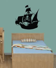 Housewares Vinyl Decal Pirate Old Ship Skull Sign Boy Nursery Decor Home Wall Art Decor Removable Stylish Sticker Mural Unique Design for Room Decal House http://www.amazon.com/dp/B00FFXXXQA/ref=cm_sw_r_pi_dp_XpQUtb1ZZ96BVM48