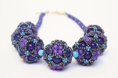 Gorgeous beaded beads from beadsumlis on Etsy