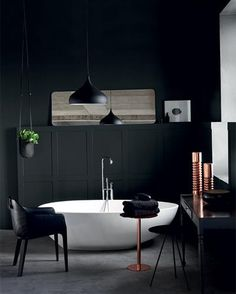 Plascon Spaces Bathrooms - The Trends Issue: One Room Four Looks Colour I would like in my white kitchen Bathroom Basin Taps, Modern Bathroom Faucets, Modern Small Bathrooms, Modern Bedrooms, Half Bathroom Decor, Guest Bathrooms, Bathroom Design Small, Bathroom Designs, Bathroom Storage