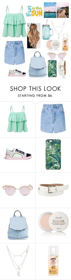 """""""#FunInTheSun"""" by ellen2104 ❤ liked on Polyvore featuring LE3NO, Vetements, Sophia Webster, Uncommon, Le Specs, Uniqlo, rag & bone, Fresh, Charlotte Russe and Hawaiian Tropic"""