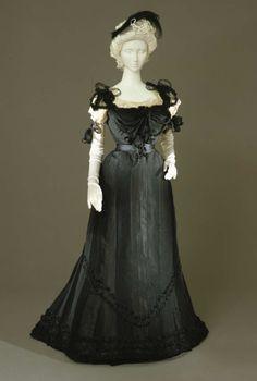 Evening dress ca. 1897 From the Galleria del Costume di Palazzo Pitti via Europeana Fashion
