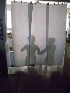 Shadows and light investigation. PeaceLoveandTeaching blog https://peaceloveandteachingblog.wordpress.com/2017/02/07/busy-busy-busy-shadows-and-light/
