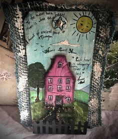Tag Art ~ Home Sweet Home by Christine LeFever