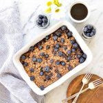 This Blueberry Baked Oatmeal recipe is the perfect make-ahead breakfast to feed a crowd! It's high-protein, gluten-free & refined sugar free!