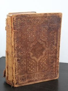 Vintage Holy Bible Leather Bound Tooled by BlackSheepEmporium, $22.00
