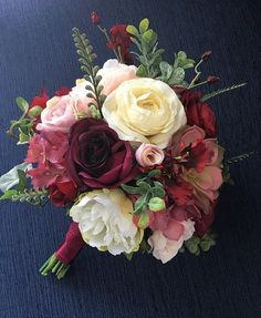 Wedding Bouquet Bridal Bouquet Blush & Burgundy Wedding #weddingbouquets