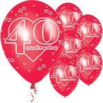 Bespoke Balloons, Candy Carts, Party Supplies for all occasions Balloons: Latex Balloons Anniversary Red 40th Wedding Anniversary, Anniversary Parties, Party Suppliers, Candy Cart, Anniversary Decorations, Latex Balloons, Christmas Bulbs, Holiday Decor, Bespoke