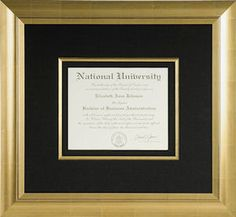 An ideal gift for the recent graduate in your life - custom frame their graduation certificate. This is something they'll treasure and display forever!
