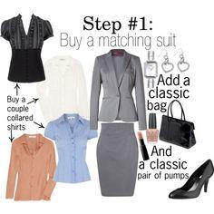 """Work Wardrobe: Step 1"" by thepolyvorina on Polyvore"